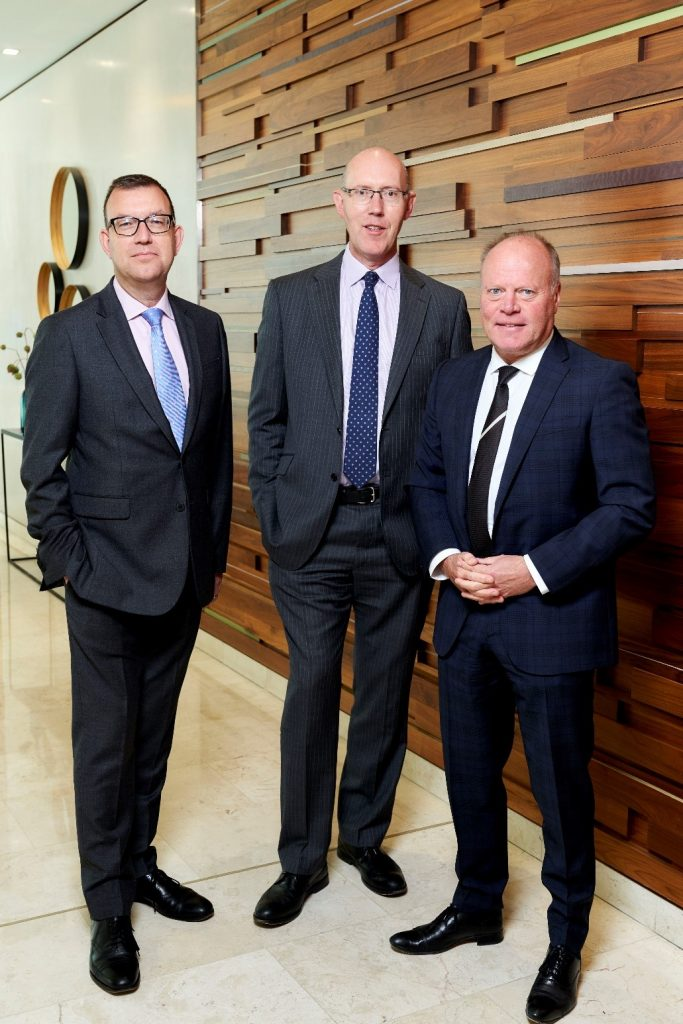 Pictured is (left to right) Simon Dekker, Robert Orr and Nigel Jackson from the Development Finance team at Paragon.